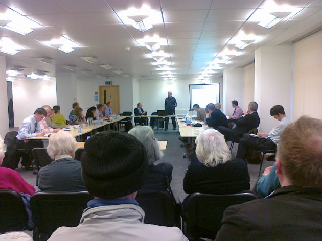 Richard Wilkinson talking to the Sheffield Fairness Commission
